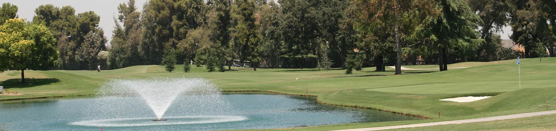 fountain at the golf course
